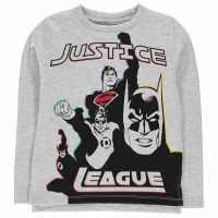 Character Тениска Long Sleeve T Shirt Boys Justice League Детски тениски и фланелки