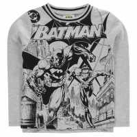 Character Тениска Long Sleeve T Shirt Boys Batman Детски тениски и фланелки