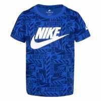 Sale Блуза За Малки Момченца Nike Aop Short Sleeve Tee Infant Boys  Детски тениски и фланелки