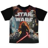 Star Wars Детска Тениска Wars Force Awakens Tee Shirt Infants Dark Side Детски тениски и фланелки
