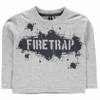 Firetrap Блуза Малки Момчета Long Sleeve T Shirt Infant Boys Graffiti Logo Детски тениски и фланелки
