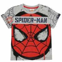 Character Детска Тениска Short Sleeve T Shirt Infant Boys Spiderman Детски тениски и фланелки