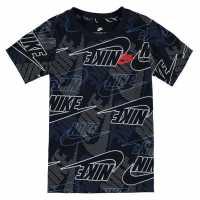 Nike Тениска Малко Момче Aop T Shirt Infant Boys Blue Детски тениски и фланелки