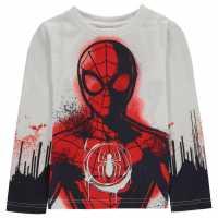 Character Тениска Момчета Long Sleeve T Shirt Junior Boys Spiderman Детски тениски и фланелки