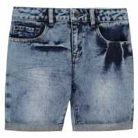 Firetrap Дънкови Къси Панталони Denim Shorts Infant Boys Blasted Blue Детски къси панталони