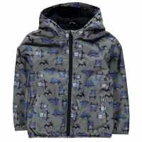 Crafted Яке Малки Момчета Aop Jacket Infant Boys Charcoal Cars Детски якета и палта