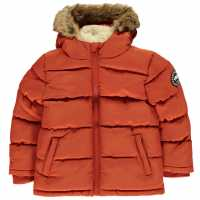 Soulcal Яке За Невръстни Деца Bubble Jacket Infants Orange Детски якета и палта
