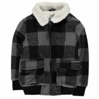 Crafted Яке Малки Момчета Shear Jacket Infant Boys Black/White Детски полар