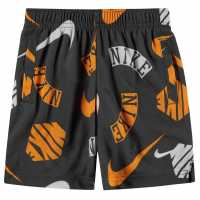 Nike Aop Shorts Infant Boys Grey/Orange Детски къси панталони
