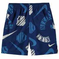 Nike Aop Shorts Infant Boys Blue/White Детски къси панталони