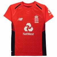 New Balance England Cricket T20 Shirt 2019 Junior Flame Red Крикет