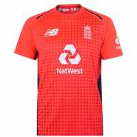 New Balance Cricket T20 Shirt 2019 Men's Flame Red Крикет