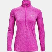 Under Armour Дамско Горнище Полу-Цип Technical Half Zip Top Ladies Meteor Pink Дамски спортни екипи