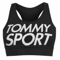 Tommy Sport Logo Sports Bra PVH Black Спортни сутиени