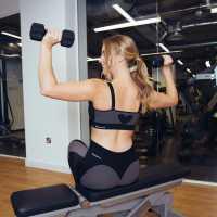 Дамски Спортен Сутиен Sportfx Valentines Heart Sports Bra Ladies Black/Grey Спортни сутиени