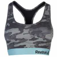 Reebok Дамски Спортен Сутиен Marion Sports Bra Ladies Black/Grey/Blue Спортни сутиени