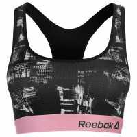 Reebok Дамски Спортен Сутиен Marion Sports Bra Ladies Black/Pink Спортни сутиени