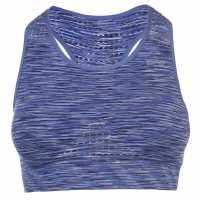 Workwear Къс Дамски Потник Usa Pro Seamless Crop Top Ladies Purple Marlin Спортни сутиени