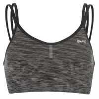 Workwear Къс Дамски Потник Usa Pro Seamless Crop Top Ladies Charcoal Space Спортни сутиени
