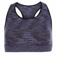 Usa Pro Seamless Wide Strapped Sports Bra Charcoal Спортни сутиени