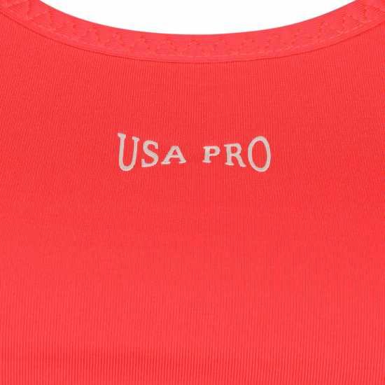 Workwear Usa Pro Poly Sports Bra Bright Pink Спортни сутиени