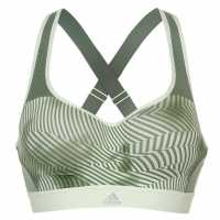 Adidas Дамски Спортен Сутиен Aop High Support Sports Bra Ladies Trace Green Спортни сутиени