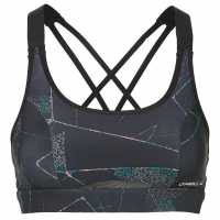 Oneill Medium Impact Bra Top Black/Green Спортни сутиени