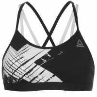 Reebok Дамски Сутиен С Тънки Презрамки Strappy Bra Ladies Black/White Спортни сутиени