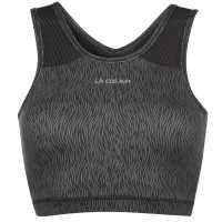 La Gear Сутиен Crop Bra Ladies Black Wave Спортни сутиени