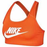 Nike Дамски Спортен Сутиен Swoosh Futura Sports Bra Ladies Orange Спортни сутиени