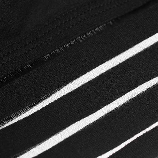 Workwear Къс Дамски Потник Usa Pro Padded Seamless Crop Top Ladies Black Спортни сутиени