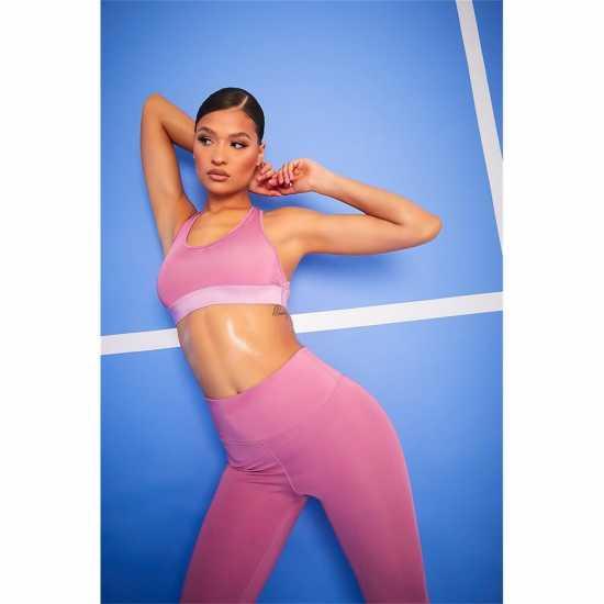 La Gear Дамски Спортен Сутиен Cropped Sports Bra Ladies Pink Спортни сутиени