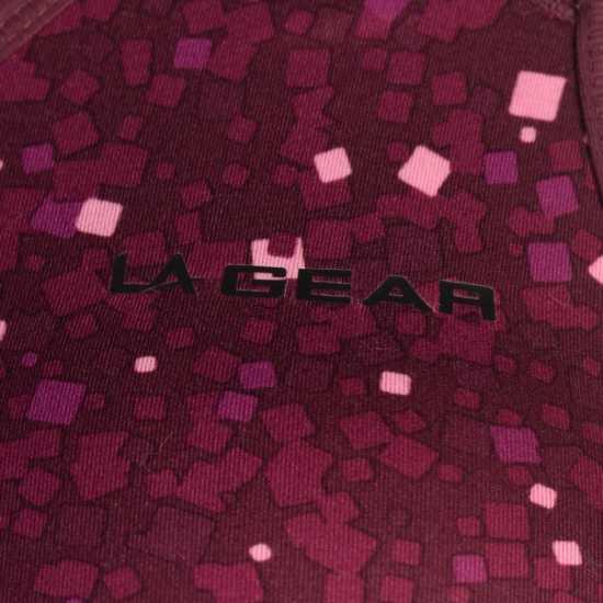 La Gear Дамски Спортен Сутиен Cropped Sports Bra Ladies Fig Print Спортни сутиени