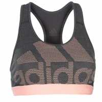 Adidas Дамски Спортен Сутиен Alphaskin Sports Bra Ladies Grey/Blk/Ornge Спортни сутиени