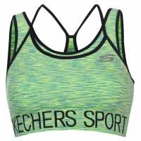 Skechers Безшевен Дамски Сутиен Seamless Bra Ladies Lime Спортни сутиени