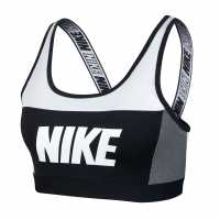 Nike Дамски Спортен Сутиен Distort Classic Sports Bra Ladies White/Grey Спортни сутиени
