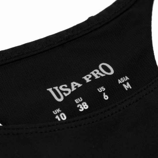 Workwear Спортен Сутиен За Средно Натоварване Usa Pro Medium Sports Bra Black Спортни сутиени