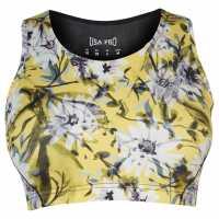 Workwear Спортен Сутиен За Средно Натоварване Usa Pro Medium Sports Bra Yelow Floral Спортни сутиени