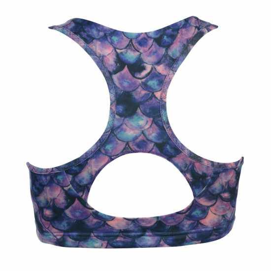 Workwear Спортен Сутиен За Средно Натоварване Usa Pro Medium Sports Bra Purple Mermaid Спортни сутиени