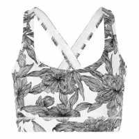 Usa Pro Racer Back Sports Bra Linear Floral Спортни сутиени