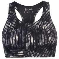 Workwear Спортен Сутиен За Средно Натоварване Usa Pro Medium Sports Bra Mono Stripe Спортни сутиени