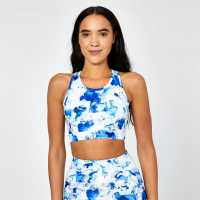 Usa Pro Racer Back Sports Bra Aqua Marine Спортни сутиени