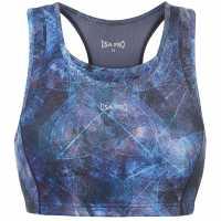 Workwear Спортен Сутиен За Средно Натоварване Usa Pro Medium Sports Bra Blue Abstract Спортни сутиени