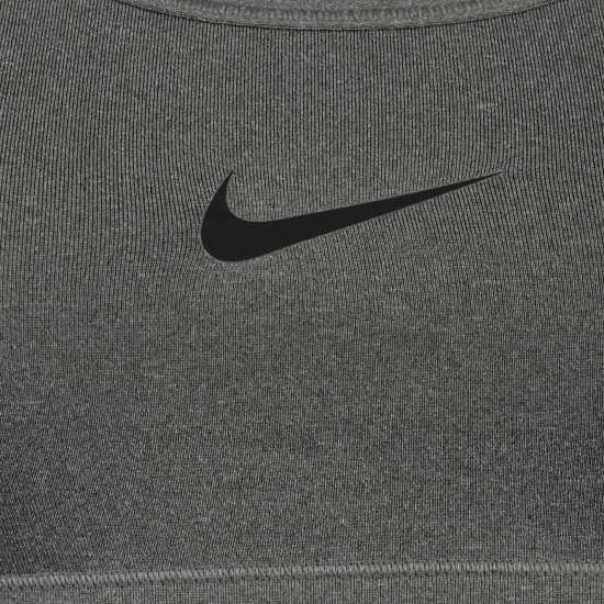 Nike Дамски Спортен Сутиен Pro Sports Bra Ladies Carbon grey Дамски долни дрехи