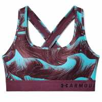 Under Armour Crossback Prnt Bra L93 Purple/Black Спортни сутиени