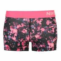 Nike Дамски Шорти Pro 3Inch Shorts Ladies Black/Pink Дамски долни дрехи