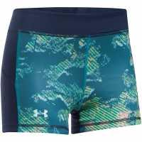 Under Armour Дамски Шорти Heatgear Reverse Shorts Ladies Bayou Blue Дамски клинове за фитнес