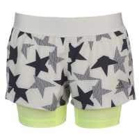 Adidas Дамски Шорти 2В1 Iteration 2 In 1 Shorts Ladies White/Leg Ink Дамски клинове за фитнес