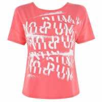 Puma Дамска Тениска Lqd Cell Logo T Shirt Ladies Pink Дамски тениски и фланелки