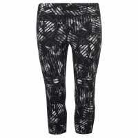 Workwear Дамски Клин Три-Четвърти Usa Pro Three Quarter Leggings Ladies Mono Stripe Дамски дрехи за бягане